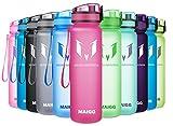 MAIGG Sports Trinkflasche 500ml / 1000ml, BPA-frei Kunststoff Wasserflaschen mit Filter für Schule, Laufen, Fahrrad, Fitness, Yoga, Auslaufsichere Kindertrinkflasche, öffnet Sich mit 1-Click