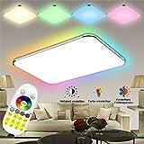 SAILUN 48W Ultraslim LED Deckenleuchte Flur Wohnzimmer Kinderzimmer Wand-Deckenlampe Schlafzimmer Küche Licht(48W RGB)
