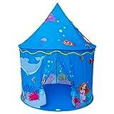 Homfu Kinder Spiel-Zelt für Jungen Mädchen draußen Camping Reisen Kinder Spiel-Zelt mit Pop-up Design Krabbel Tunnel (Braun)