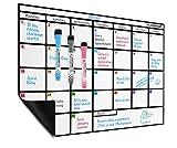 Magnetischer Monatsplaner, DIN-A3, abwischbar; Kalenderplaner von Plan Smart; BONUS: 3 Marker mit Radierern