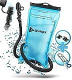 Luamex® Trinkblase - Outdoor – 2L Wasserblase – BPA frei - Trinkbeutel – Trinksystem mit On/Off Ventil, isolierter Trinkschlauch – Wasserbeutel - für Trinkrucksack, Radfahren, Wandern, Camping