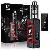 Kupbox E Zigarette Starter Set Ohne Nikotin, 10-80W E Shisha Dark Rider E Zigarette mit 0.5Ohm 2ml Verdampfer Tank, 2000mah Akku Kit- Rot.