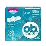 o.b. ProComfort Mini Tampons mit Dynamic Fit Technologie und SilkTouch Oberfläche – Für ultimativen Komfort (innerhalb des o.b. Sortiments) und zuverlässigen Schutz – 56er Pack