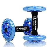5BILLION Bauchtrainer Roller & Ab Wheel Roller - Doppelt Core Ab Wheel - Workout für Abs, Rücken, Arme, Schultern, Torso, Hüften - Enthält kniend Matte