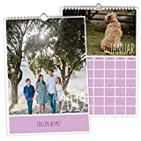 Fotokalender 2019 'Individuell' | Farbe Beige | Inkl. Druck Ihrer eigenen Fotos | Spiralbindung | Personalisierter Wandkalender zum selbst gestalten | DIN A4 Kalender drucken