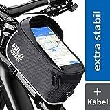 Rahmentasche Fahrrad für Smartphone am Oberrohr | Rad Oberrohrtasche wasserdicht | Handy Fahrradtasche Rahmen | Oberrohr Fahrradtasche Mountainbike