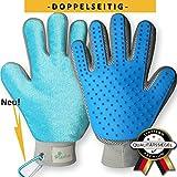 tierfroh Bewährter Fellpflege Handschuh für Hunde und Katzen mit doppelseitiger Funktion BPA FREI