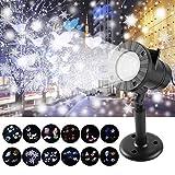 LED Projektor, Led Projektionslampe Weihnachten Projektor mit 12 Musters und Weihnachtsbeleuchtung Außen IP65 Wasserdicht LED Effektlicht, Party Licht,für Weihnachten,Halloween