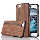 LCHULLE Kompatibel mitiPhone 6/6S Hülle (4,7 Zoll), Premium Handmade [Echtes Holz Rücken Flexibel] TPU Silikon Ultra Slim Back Schutzhülle-Lila Sandelholz