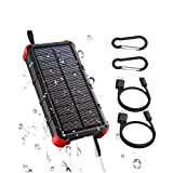 OUTXE Quick Charge 20000mAh Robustes Solar Ladegerät Outdodor 4A Dual Eingang (Type C und USB)
