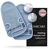 FABCARE Peelinghandschuh rau für Körper & Gesicht aus Bambus - Reinigt Porentief - Peeling Handschuh für Hamam & Dusche - Massagehandschuh Grob für Körperpeeling (1 Stück)