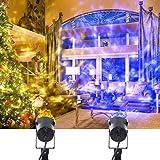 Weihnachten LED Projektor, YMing Projektionslampe Lichter Wasserdichte mitBunte Lichteffekt, Rotierende Diskokugel Lampe für Weihnachten, Garten, Party, Hochzeit uvm (Warm Blau) (Niederdruck)