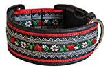Ledustra Hundehalsband Herzblume Halsband Handarbeit Klickverschluss (40-45 cm)