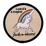 Fuck Unicorn Fun Patch mit Klett