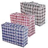 worldart 5x große Laundry Storage Wäschekorb Einkaufstaschen mit Reißverschluss–Wiederverwendbar/Neu (Farbe Sortiert)
