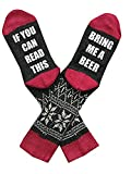 Lueyifs Unisex Baumwollstrick Socken IF You Can Read This Bring Me A Beer Socks