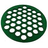 Unbekannt Ravioli- und Pelmenisplatte, rund, Kunststoff, Grün