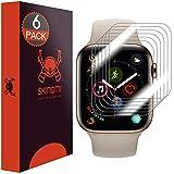 Skinomi TechSkin, Schutzfolie für Apple Watch Series 4-44 mm. wasserabweisend, 6er Pack
