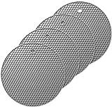 Oishii 4er Set Topf Untersetzer aus Silikon - Runde Topflappen Hitzebeständig bis zu 230°C (Grau)