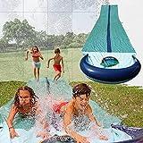 Team Magnus Wasserrutsche XXL (950x160cm) Doppel Wasserrutschbahn für Garten und Wiese aus strapazierfähigem 0.22mm PVC
