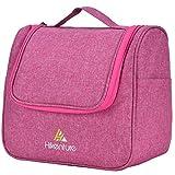 Kosmetiktasche zum Aufhängen von Hikenture® - Waschtasche Reise für Damen und Herren - Kulturbeutel Kulturtasche mit Haken und Reißverschluss für Reisen, Outdoor, Camping (Pink)