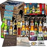 Vatertag Geschenkbox PAPA 12 x Biere der Welt/Geschenk für Vater, Mann, Männer, Papi Geburtstag,Geschenkidee, Geschenk Set für Ihn/Biertasting-Anleitung, 4x Bierdeckel, Produktbeschreibung