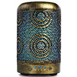 SALKING Aroma Diffuser Luftbefeuchter Humidifier, Handgefertigt Metall Diffusor für ätherische Öle, Automatisch Power-Off, 7 Farbe Licht Vintage Aromatherapie für Baby, Zuhause Büro Oder Yoga MEHRWEG